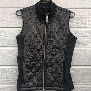 prAna women's quilted vest with ribbed sides